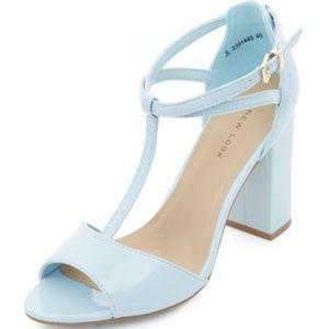 ASOS Pastel Patent Block Heel Sandals (W 7.5)